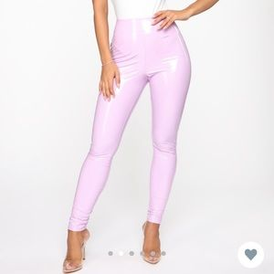 "Fashion Nova ""Brand Spanking New Vinyl Pants"" XS"